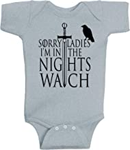 BeeGeeTees Sorry Ladies I'm in The Nights Watch Game of Thrones Inspired Stark Family Baby Clothing