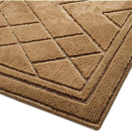 """Color&Geometry Indoor Door Mat, Non Slip Absorbent Resist Dirt Door Mats Indoor Entryway Rug, 24""""X36"""" Machine Washable Low-Profile Front Door Mat, Brown"""