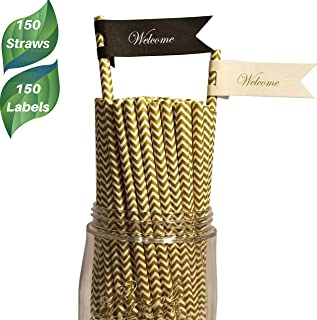 Best gold straws plastic Reviews