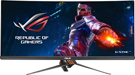 """ASUS ROG Swift PG348Q 34"""" Gaming Monitor Curved Ultra-Wide 3440x1440 100Hz IPS DisplayPort USB Eye Care G-SYNC"""