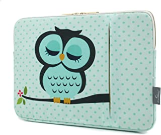 CoolBELL 12.9 Inch iPad Pro Sleeve Case Surface Pro 4 Cover with Cute Owl Pattern Fabric Sleeve Canvas Bag Exclusive for iPad Pro/Surface Pro 4/12'' New MacBook/Men/Women/Girls
