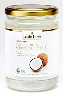 Earth`s Finest Organic Extra Virgin Raw Coconut Oil - 500 ml