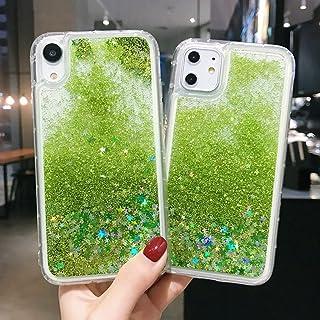 حافظة هاتف سائلة شفافة بنمط نجوم الصيف الخضراء غطاء من البولي يوريثان اللدن بالحرارة، لهاتف آيفون 6 6s 7 8 بلس X XS XR 11 ...