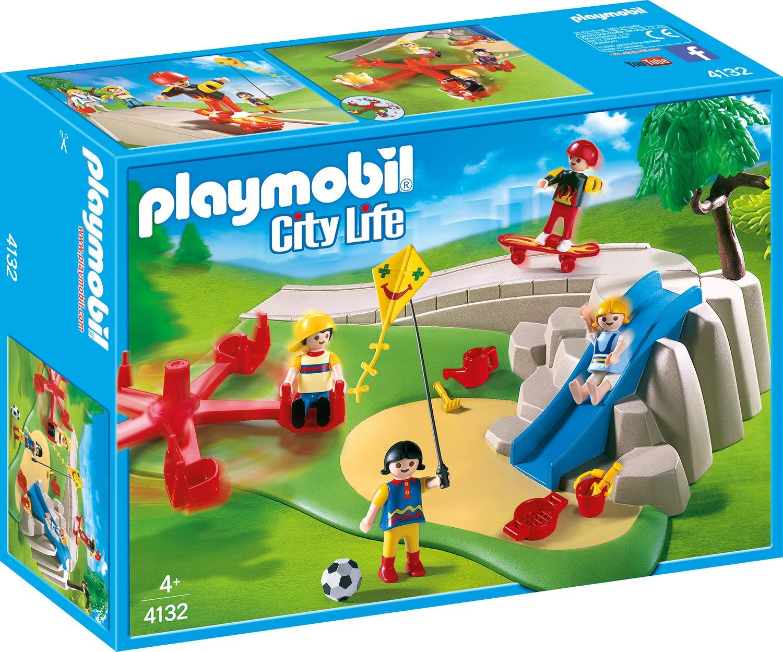 PLAYMOBIL 4132 SuperSet Patio de recreo: Amazon.es: Juguetes y juegos