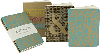 Go Stationery Kraft Typo Pocket Notebooks (Pack of 3)