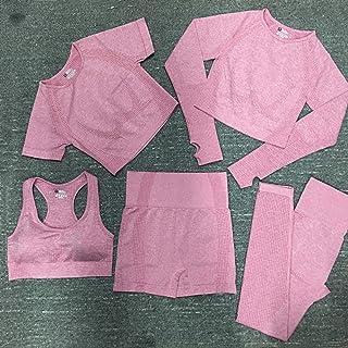 Women Vital Seamless Yoga Set Fitness Clothing High Waist Gym Leggings+ Padded Push Up Sports Bra Running Sportswear Track...