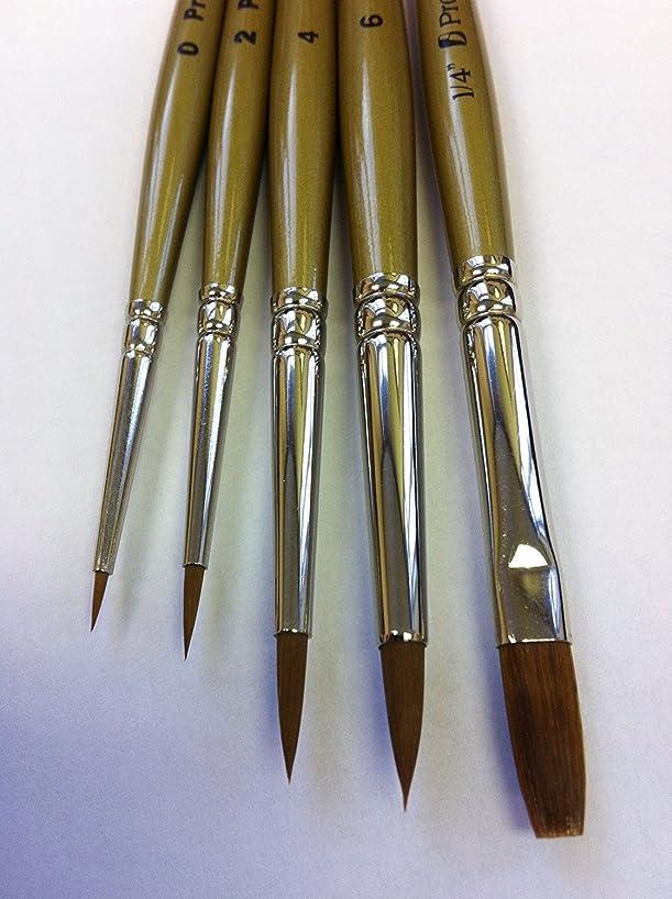 Pro Arte Prolene Watercolor, Model & Miniature Painters Brush Set W4