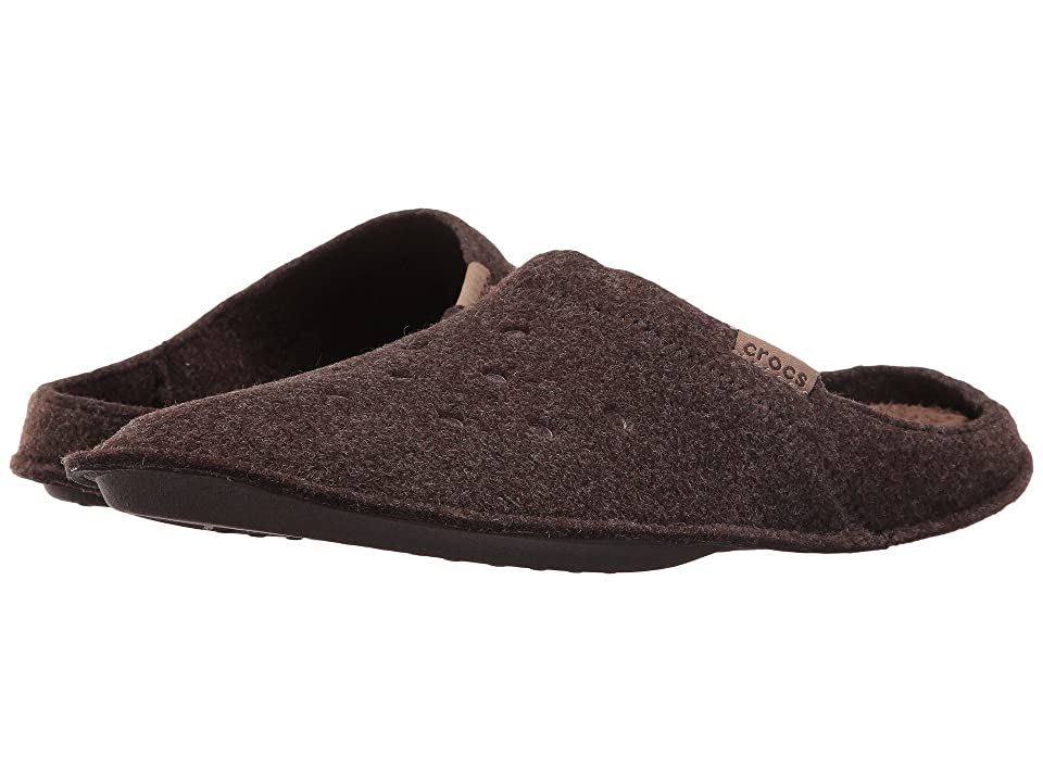 Crocs Classic Slipper (Espresso/Walnut) Slippers, Brown