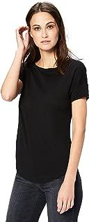 Amazon Brand - Daily Ritual Women's 100% Linen Short-Sleeve Open Crew Neck T-Shirt