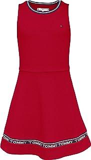 Tommy Hilfiger Girl's Punto Milano Skater Dress, Color:Deep Crimson, Size:6