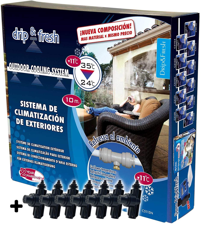 Drip&Fresh C5115A Sistema de nebulización Anti-Goteo: Amazon.es: Jardín