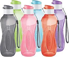 MILTON Water Bottle Kids Reusable Leakproof 12 Oz Plastic Wide Mouth Large Big Drink Bottle BPA & Leak Free with Handle St...