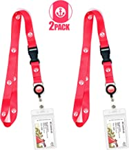 Cruise Lanyard [2-Pack] Lanyards with ID Holder for Cruise Ship Key Cards (Pink Anchor) - Essentials & Must Have Accessories by Cruise On