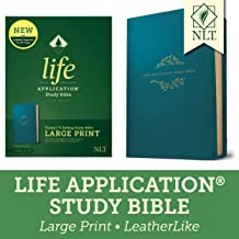 Tyndale NLT Life Application Study Bible, Third Edition, Large Print (LeatherLike, Teal Blue, Red Letter) – New Living Translation Bible, Large Print Study Bible for Enhanced Readability