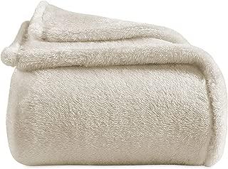 Berkshire Blanket Extra-Fluffy Blanket Plush Throw, Cream