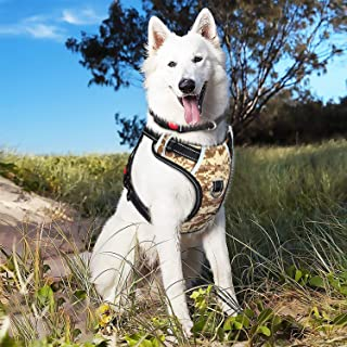 BABYLTRL Big Dog Harness No Pull Adjustable Pet Reflective Oxford Soft Vest for Large Dogs Easy Control Harness