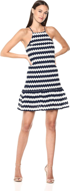 Trina Turk Womens Rio Drop Flounce Dress Dress