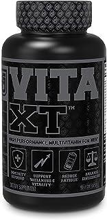 Vita-XT Black Multivitamin for Men - Mens Daily Multivitamin w/ Chelated Minerals, Vitamin A, C, D, E, K, Iron, Ashwagandh...