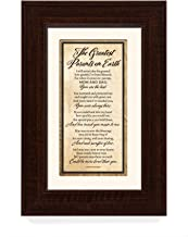 Greatest Parents Wood Wall Frame Art Plaque | 8.5 inches x 12.5 inches | Wall Hanger and Easel Back | The Greatest Parents on Earth | by James Lawrence