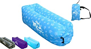 US Lounger Fast Inflatable Portable Outdoor or Indoor Wind Bed Lounger, Air Bag Sofa, Air Sleeping Sofa Couch, Lazy Bed for Camping, Beach, Park, Backyard