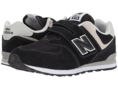 New Balance Kids YV574v1 (Little Kid/Big Kid) (Black/Grey) Boys Shoes