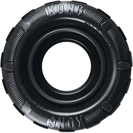 KONG - Tires - Durable Rubber Chew Toy and Treat Dispenser for Power Chewers