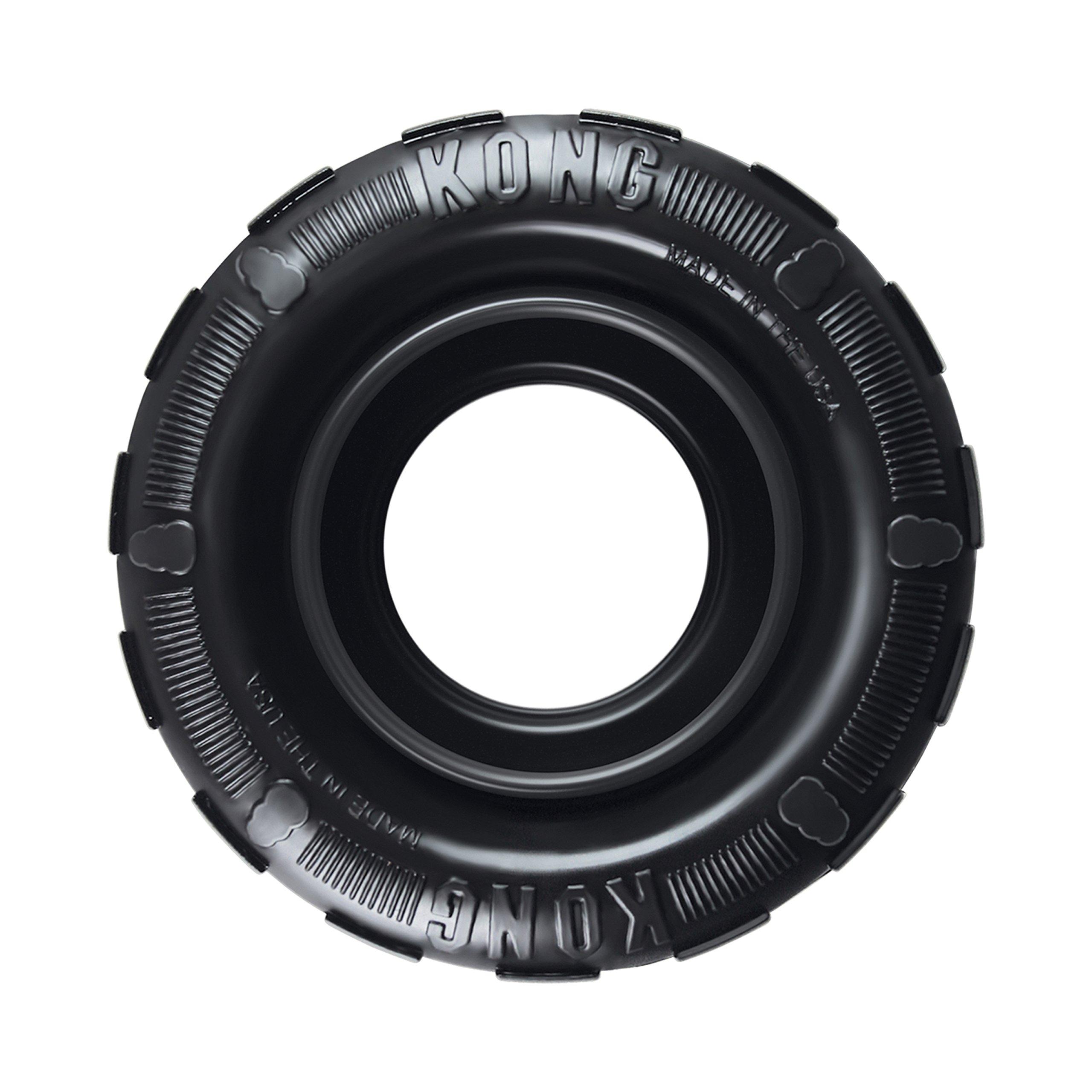 Kong Extreme Neumático Traxx perro de juguete de goma negro durable dispensador de golosinas en 2 Tamaños