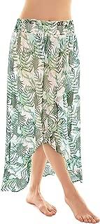 SHEKINI Damen Chiffon Pareo Leichtes Bikini Strandtuch Leopardenmuster Wickelrock Gebl/ümte Strandkleider