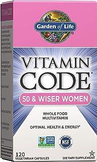Garden of Life Multivitamin for Women 50 & Over, Vitamin Code Women 50 & Wiser Multi - 120 Capsules, Vitamins for Women 50...