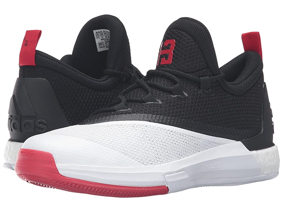 adidas Crazylight Boost 2.5 Low (Black/Scarlet/White) Men