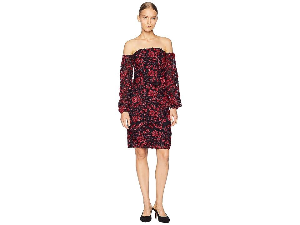 ZAC Zac Posen Caro Dress (Maroon Multi) Women