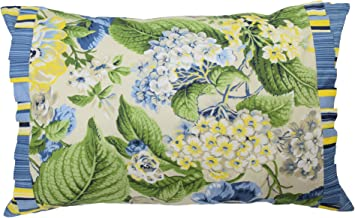 WAVERLY Floral Flourish Decorative Pillow, 14 x 22, Porcelain