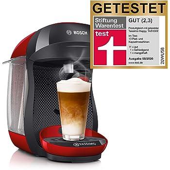 Bosch TAS1003 TASSIMO Happy Cafetera de cápsulas, 1400 W, color rojo y negro: Amazon.es: Hogar