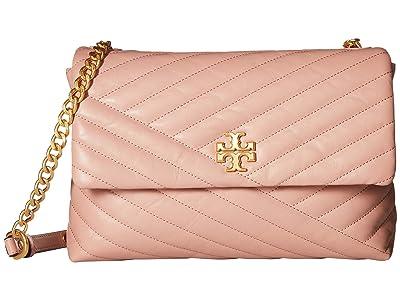 Tory Burch Kira Chevron Flap Shoulder Bag (Pink Moon) Handbags