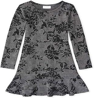 فستان كاجوال للفتيات مزين بالزهور بكشكشة من ذا كيدز بليس