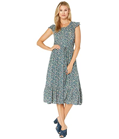 Lucky Brand Felicia Dress (Green Multi) Women