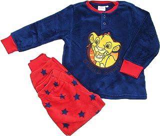 SUN CITY Pijama para niño de invierno de Disney El Rey León, de coral suave, ideal para regalo – 7441