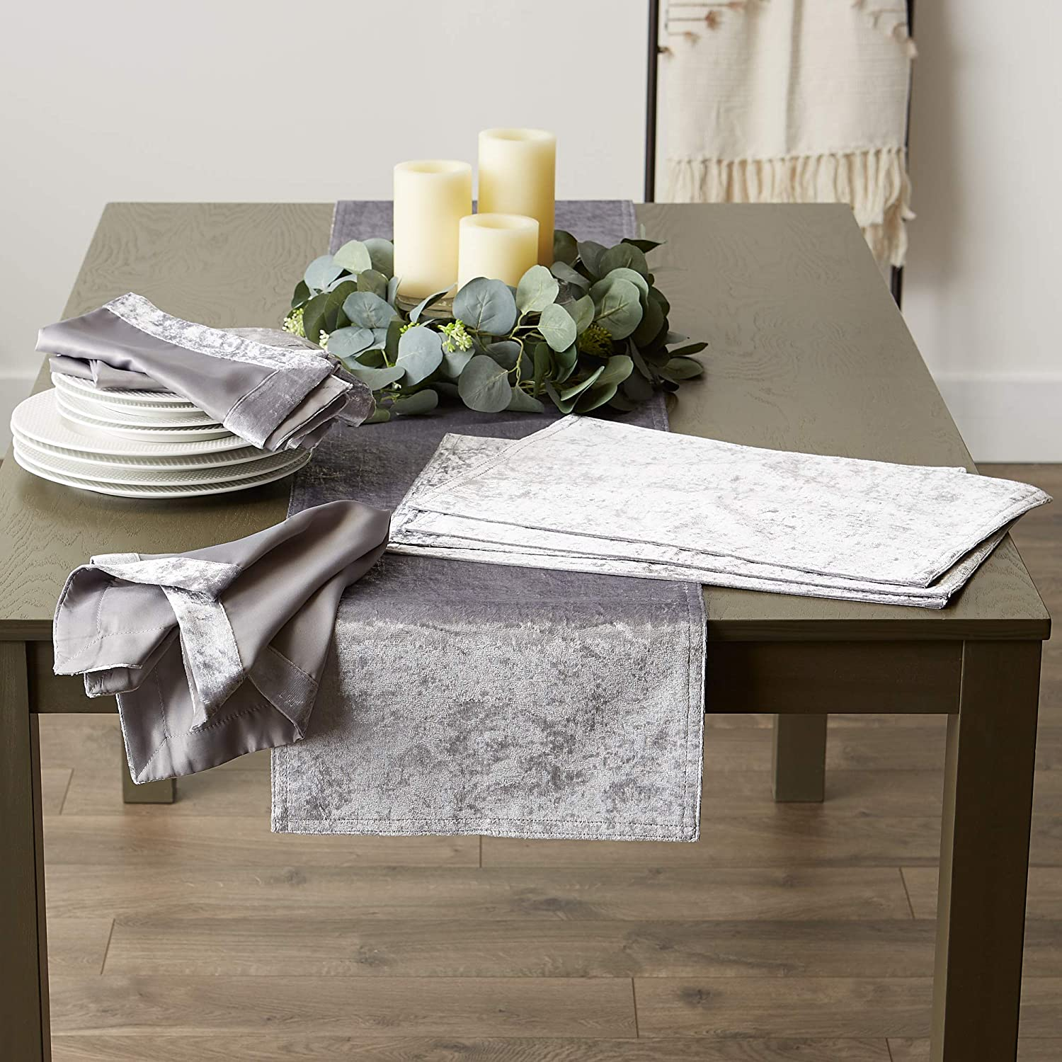 Table Runner Polyester DII Tabletop Cream 14x72