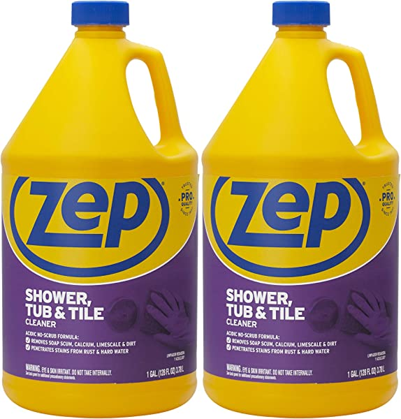 Zep Shower Tub And Tile Cleaner 128 Ounce ZUSTT128 Case Of 2