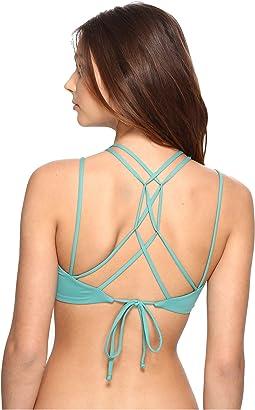 Malibu Solids Halter Bikini Top