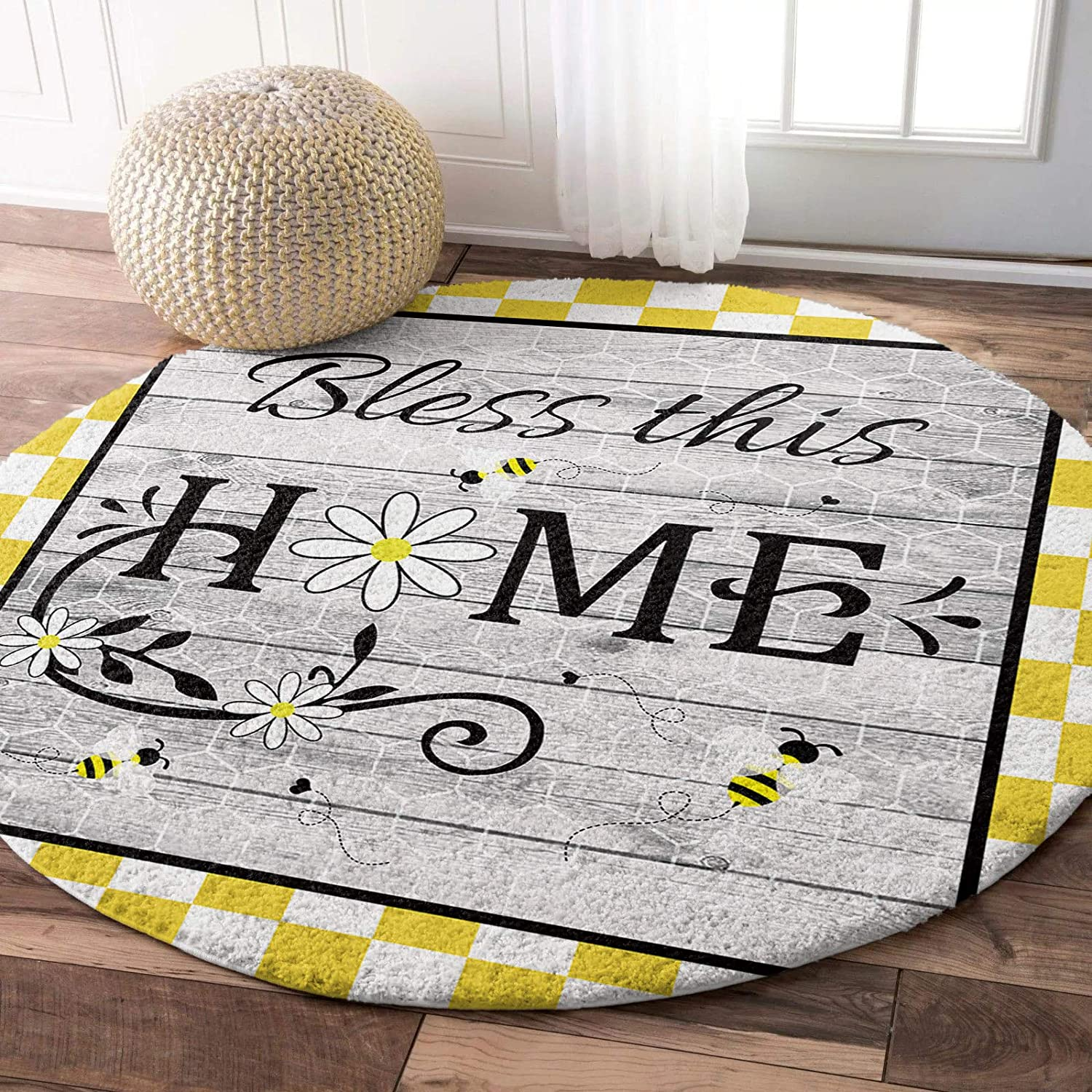 Round Fluffy High order Area Rugs Carpet Bless on Boa Daisy this Home New Shipping Free Shipping Wood
