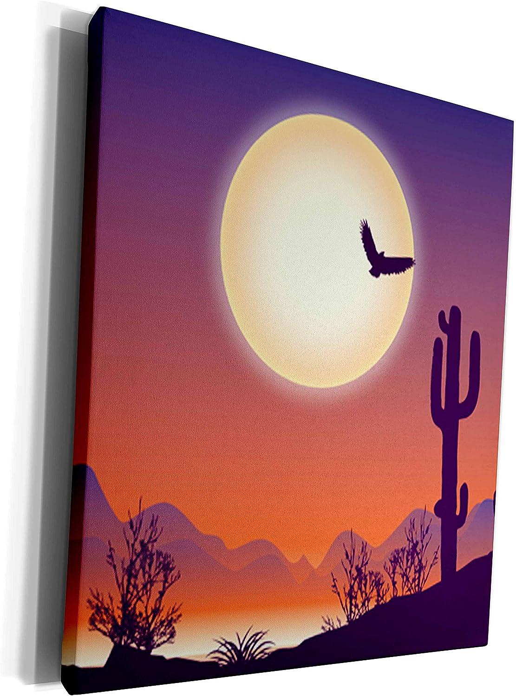 New product 3dRose Sven Herkenrath Nature - Landscape i of Houston Mall Silhouette Desert