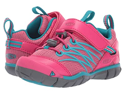 Keen Kids Chandler CNX (Toddler/Little Kid) (Bright Pink/Lake Green) Girl