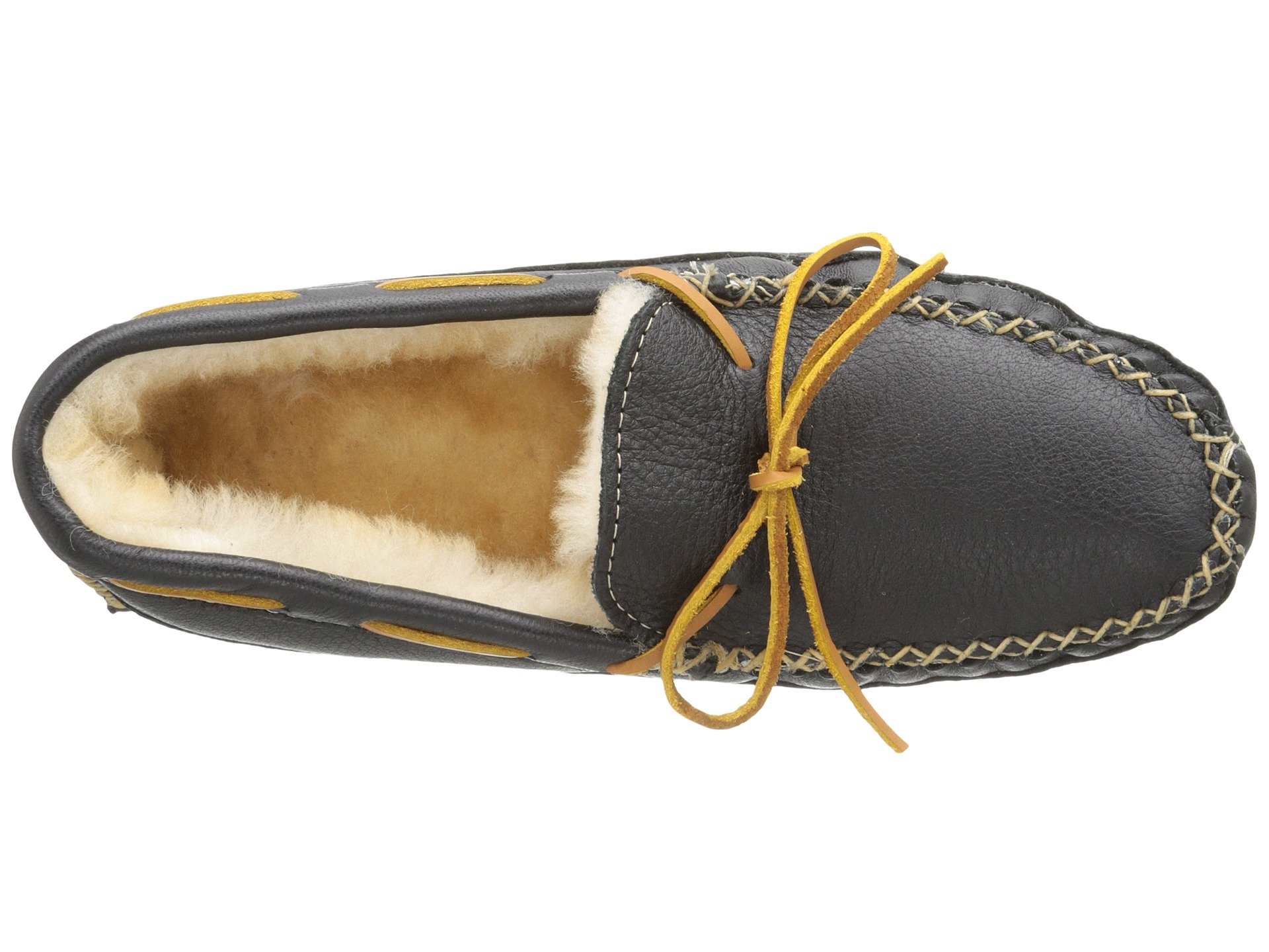Slipper Sheepskin Black Minnetonka Moose Lined 8t6ddxqwR