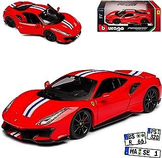 Ferrari 458 Speciale Coupe Rot mit Streifen Ab 2013 1//18 Bburago Modell Auto m..