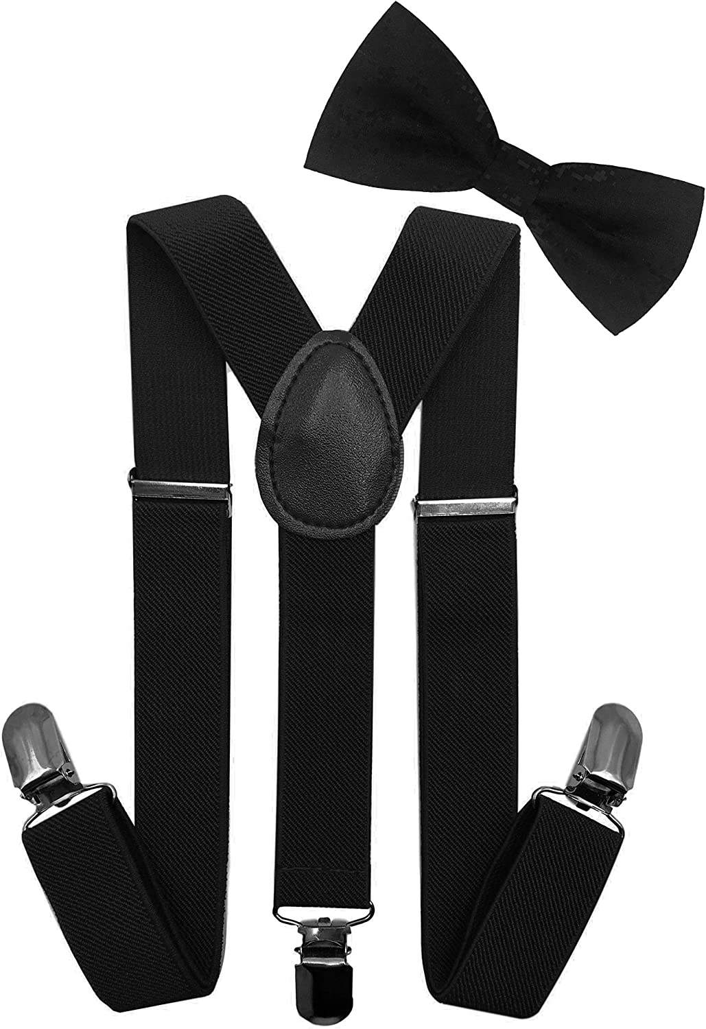 LOLELAI Toddler, Kids Suspender and Bow Tie Set | Adjustable and Elastic | for Boys and Girls