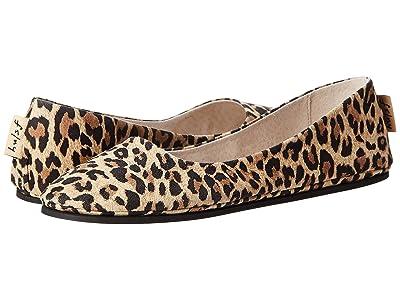French Sole Sloop Flat (Leopard Suede) Women