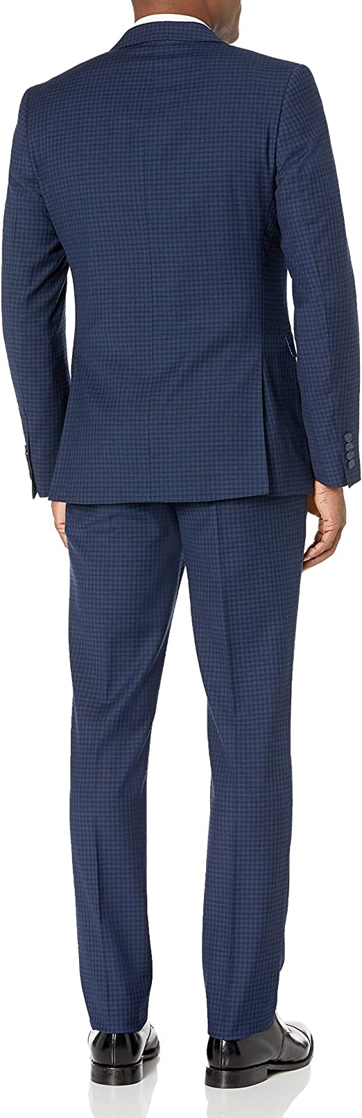 2pc Suit with Unfinished Bottom Hem Original Penguin Mens Slim Fit
