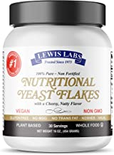 Nutritional Yeast mini Flakes,1 lb.-Non Fortified, Whole Food-Vegan Cheese Powder Substitute, Delicious Taste-SuperFood, 7g Protein, Fiber,Folate, B Vitamins, 18 Amino Acids-Gluten Free,NON GMO,Kosher