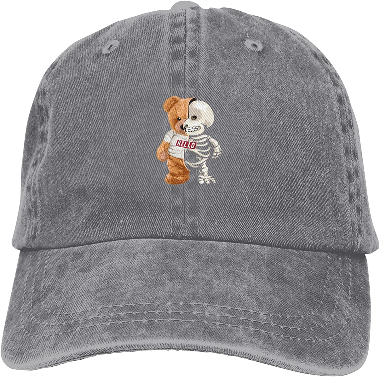 QIXULM Super beauty product restock quality Houston Mall top Unisex Denim Hat Adjustable Cotton Baseba Dad Dyed Washed